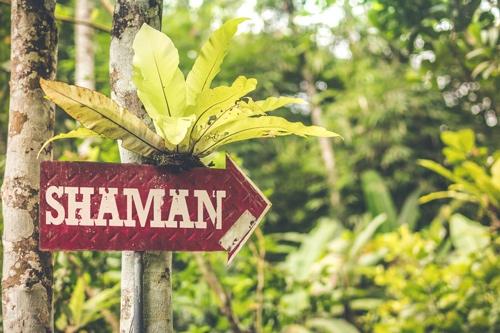 bordje in de jungle: sjamaan